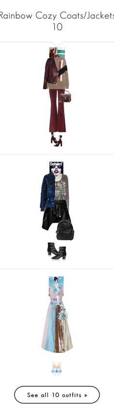 """""""Rainbow Cozy Coats/Jackets 10"""" by canlui ❤ liked on Polyvore featuring Jil Sander, M.i.h Jeans, Givenchy, Yves Saint Laurent, Sweater, sweaters, sweaterweather, cashmere, Etro and Magda Butrym"""