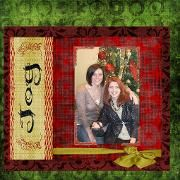 Digital page of my daughter Jennie and me
