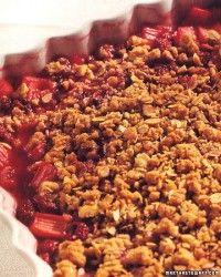 Rhubarb Crisp Recipe & Video   Martha Stewart