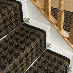 Houndstooth Black Stair Carpet Runner - Free delivery on orders over & 30 day return guarantee from Carpet Runners UK.