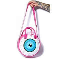 Kreepsville 666 Eyeball Handbag ($36) ❤ liked on Polyvore featuring bags, handbags, tote bags, white tote purse, handbags totes, white tote bag, tote hand bags and handbag purse