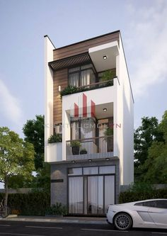 Top 10 Modern house designs – Modern Home Minimalist House Design, Modern House Design, 3 Storey House, Narrow House Designs, Modern Bungalow House, Compact House, House Front Design, Street House, House Elevation
