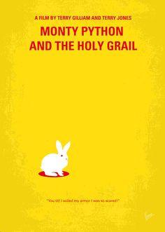 "Monty Python And The Holy Grail Minimal Movie Poster Digital Art  ""Monty Python And The Holy Grail"" 1975 (British Comedy Film)"