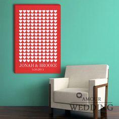 wedding guest book poster toabao 指纹签到画 指纹树 创意指纹 签到树 爱心表格 嘉宾签名册 QDH-14-tmall.com天猫 38rmb