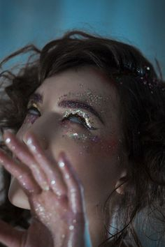 Dazed Beauty Editorials - Anna Galkina's Latest Beauty Scene Exclusive Boasts Psychedelic Imagery (GALLERY)