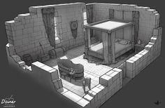 bedroom medieval castle artstation scottish fantasy gregory hoareau