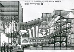 auditorium theatre landmark stage architecture blueprint cross section