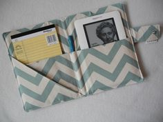 Fabric Notebook Organizer with Pockets Pad and by thebrowndrake