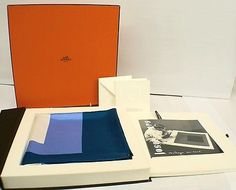 JOSEF-ALBERS-Limited-Edition-Scarf-by-Hermes-Editeur-editions-16-if-200-BLUE-BN