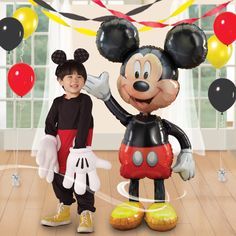 Disney Mickey Mouse Airwalker Birthday Balloon available at www.partyexpressinvitations.com
