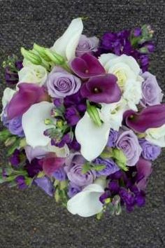 Purple Lisianthus Bouquet | white,+purple+calla+lily,+white,+purple+lisianthus+bridal+bouquetwtmk ...