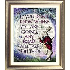 DICTIONARY PAGE ART PRINT VINTAGE ANTIQUE BOOK Alice in Wonderland White Rabbit | eBay