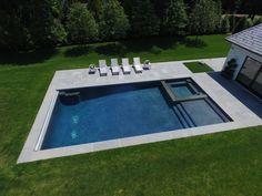 Swimming Pools Backyard, Swimming Pool Designs, Pool Decks, Pool Landscaping, Landscaping Design, Small Pool Houses, Small Pools, Patios, Outdoor Pool