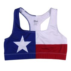 Texas Flag Sports Bra Make sure to check out my fitness tips and sexy women's athletic clothing at https://ronitaylorfit.com/