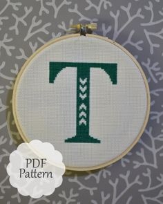 Downloadable monogram cross stitch pattern - I would love to make this as a homemade wedding gift for one of my friends.