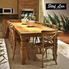 Wooden Dining Table Designs, Wooden Table And Chairs, Dining Set, Dining Rooms, Small Living Rooms, Sweet Home, Kitchen, Furniture, Puff