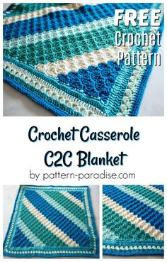 Free crochet pattern for reversible c2c blanket by pattern-paradise.com #crochet #patternparadisecrochet #blanket