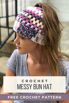 Beanie Pattern Free, Crochet Beanie Pattern, Crochet Cap, Free Crochet, Quick Crochet Patterns, Crochet Patterns For Beginners, Crochet Ideas, Learn To Crochet, Easy Things To Crochet