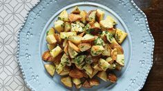 Red Potatoes with Crispy Garlic Chips Recipe | Vegetarian Times