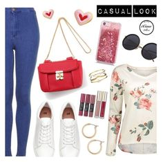 """Casual Look"" by dressedbyrose ❤ liked on Polyvore featuring Topshop, H&M, Nordstrom and Accessorize"