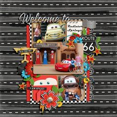 Disney Scrapbook page layout ides - Disneyland California Adventures Cars land