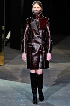 Alexander Wang delivered knock-out outerwear for fall 2012. Surfaces are textured to eye-pleasing effect.