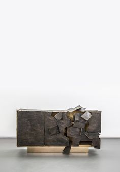 Insideer Bronze, a low cabinet by Vincent Dubourg Luxury Furniture, Cool Furniture, Furniture Design, Marble Furniture, Furniture Ideas, Outdoor Shelves, Best Buffet, Low Cabinet, Console Cabinet