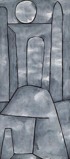 Paul Klee. A Gate Tempera on Ingres paper on cardboard, 31.6 x 14 cm