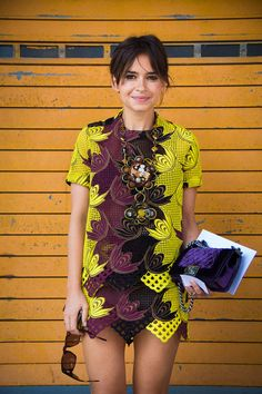 Miroslava Duma | mini dress | bold design | chanel velvet shoulder bag | statement necklace | womens fashion