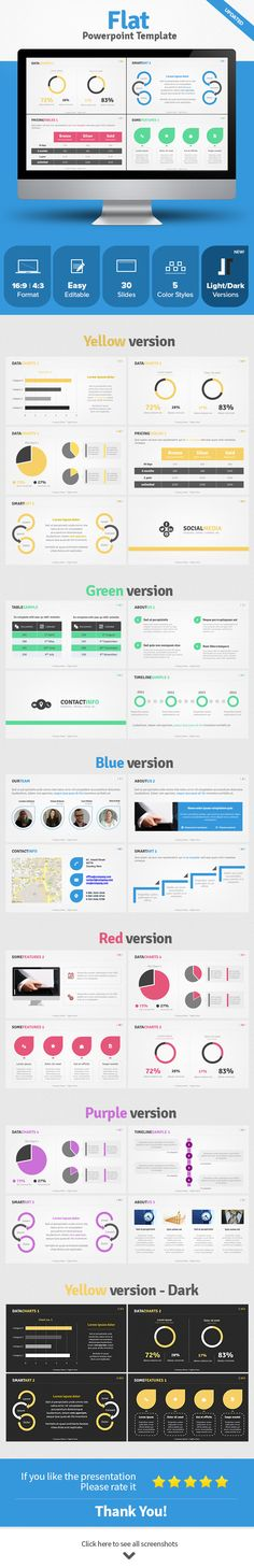Flat Powerpoint Template - Business PowerPoint Templates