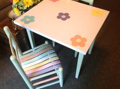 Children's table and chairs.