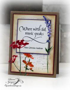 Where words fail, Quietfire Design, Diana Nguyen, Tim Holtz, wildflowers, die, music
