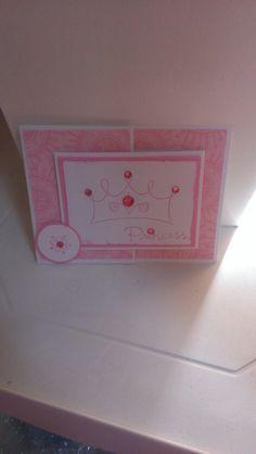 Princess Birthday Handmade Greeting Card by jennrainescreations, $4.00