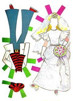 'Dollikin' vintage paper doll set