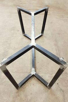 Very solid and strong, it would take any (heavy) table top! Wood Table Bases, Steel Dining Table, Coffee Table Base, Steel Table Legs, Dining Table Legs, Dining Table Design, Contemporary Dining Table, Modern Contemporary, Iron Table Legs
