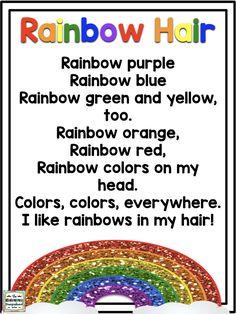Rainbow Hair poem!