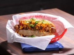 Bobby Deen's Lighter Game Time Chili Dogs : Recipes : Cooking Channel