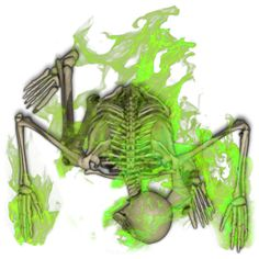 Skeleton Green Flame 1[Necromancy,fire,flame,skele by Madcowchef on DeviantArt