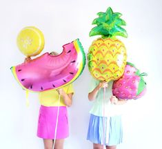 37'' Pineapple Printed Foil Party Balloon with by ColourandTwine