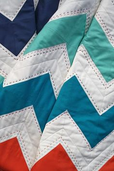 hand quilting + zig zags = wonderful!