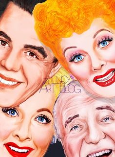 I Love Lucy - Lucille Ball - artist unknown Lucille Ball, Funny Caricatures, Celebrity Caricatures, Celebrity Drawings, I Love Lucy Show, Lucy And Ricky, Desi Arnaz, Rick Y, Actrices Hollywood