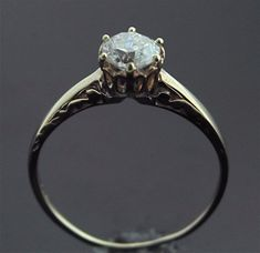 Antique Engagement Ring - Rose Gold and Diamond Ring. $2,390.00, via Etsy.