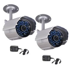 VideoSecu 2 Outdoor CCTV Infrared Day Night Vision Bullet Security Cameras Weatherproof 520TVL High Resolution 36 IR LEDs for DVR Home Surveillance with Power Supplies WK8 by VideoSecu. $62.99. The IR808HS is a high-resolution, premium CMOS camera with 520 TV lines of resolution. 2012 model built in with dual-filter day & night auto switching, the camera will switch to black and white on low light to enhance sensitivity. With heat dissipating, weatherproof metal housings, it's...