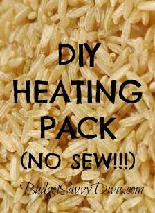 DIY Heating Pack, No Sew! | Budget Savvy Diva