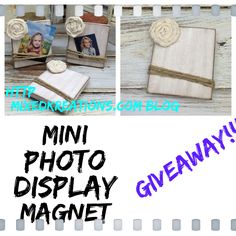 Only 3 more days left to enter! http://mixedkreations.com/blog/2015/07/mini-photo-display-giveaway/