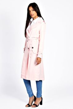 $44, Chloe Fluid Trench Coat by Boohoo. Sold by BooHoo. Click for more info: http://lookastic.com/women/shop_items/102663/redirect