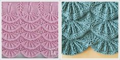 FREE tutorial for knitted alsacian scallops pattern