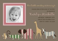 A Day at the Zoo Birthday Party Invitation  Safari by andersruff, $18.00
