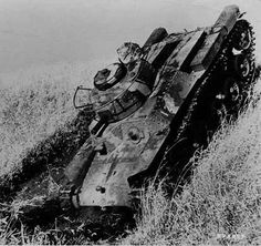 "A Type 97 ""Chi-Ha"" appears to have been knocked"