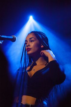 See Jorja Smith pictures, photo shoots, and listen online to the latest music. Jorja Smith, Black Girl Magic, Black Girls, Pretty People, Beautiful People, Afro Punk, Jolie Photo, Blue Aesthetic, Black Is Beautiful